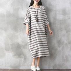 Hazie - Striped Midi T-Shirt Dress
