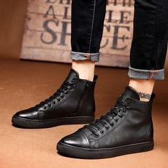 MARTUCCI - Genuine Leather High-Top Sneakers