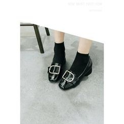 ATTYSTORY - Block-Heel Bucked Loafers