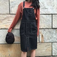 Dute - Denim Pinafore Dress