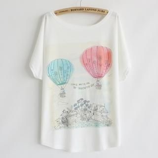 LULUS - Balloon-Print Loose-Fit T-Shirt