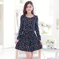 Sienne - Printed Long Sleeve Dress