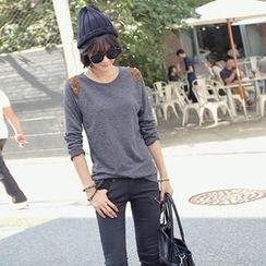 REDOPIN - Studded Long-Sleeve T-Shirt