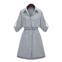 VIZZI - Stripe Shirtdress