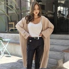 LIPHOP - Drop-Shoulder Long Cardigan