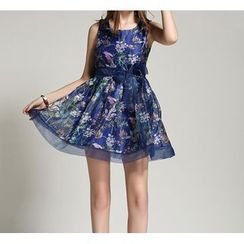 GRACI - Floral Print Sleeveless Dress