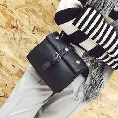 Rosanna Bags - Faux Leather Buckled Crossbody Bag