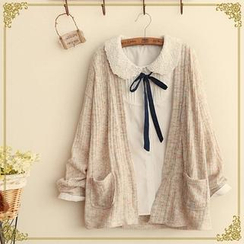 Fairyland - Open-Front Mélange Cardigan
