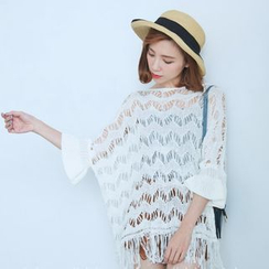 BAIMOMO - Fringe-Trim Cover-Up