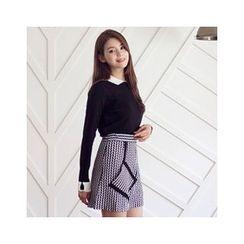 MASoeur - Pocket-Detail Patterned Skirt