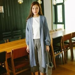 ZIZI - Puff-sleeve Long Cardigan