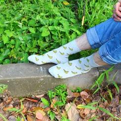 Aeoo - Set of 5: Patterned Socks