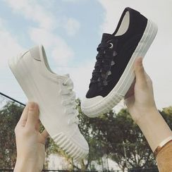 SouthBay Shoes - Plain Lace Up Sneakers