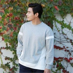BYMONO - Zip-Side Contrast-Trim Sweatshirt