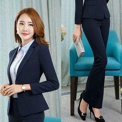 Princess Min - Set: One-Button Blazer + Pants / Skirt