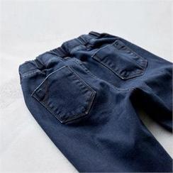 PEPER - Brushed-Fleece Denim Leggings Pants