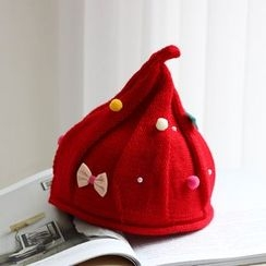 EVEN - Pompom Pointy Beanie