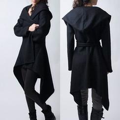 Aquello - Hooded Asymmetric Coat
