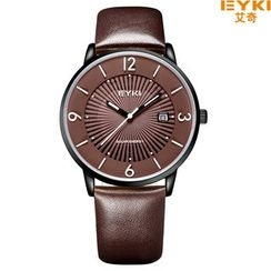 Periwinkle - Genuine-Leather Strap Watch