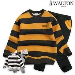 WALTON kids - Set: Cotton Stripe Pullover + Pants