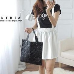 CYNTHIA - Elastic-Waist Suspenders Skirt