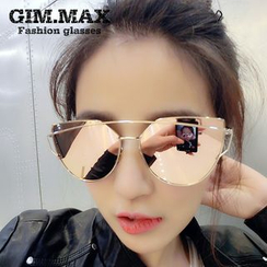 GIMMAX Glasses - Metal Frame Mirrored Sunglasses