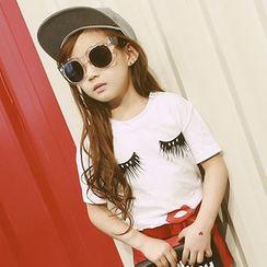 柠檬嘟嘟 - 小童印花圆领T恤