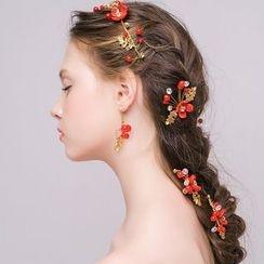Miss Diva - Tasseled Hairband / Hair Stick / Earrings