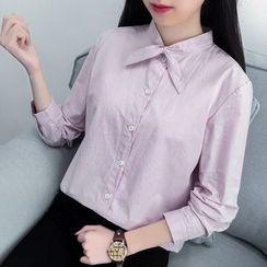 Genki Girl - Bow Long-Sleeve Blouse