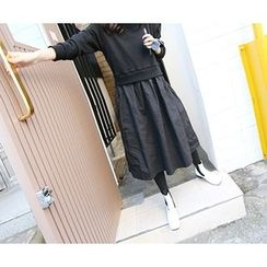 MARSHMALLOW - Mock Two-Piece Midi Dress