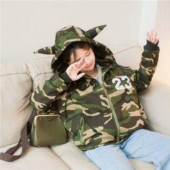 Eva Fashion - Horn Camouflage Padded Coat
