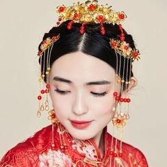 Miss Diva - Beaded Hair Comb / Earrings / Hairband