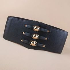 Goldenrod - Triple Buckle Elastic Belt