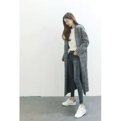ATTYSTORY - Single-Breasted Wool Blend Long Coat