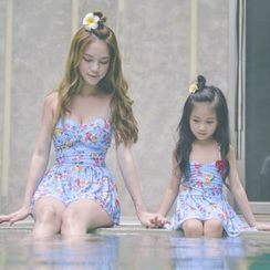 EMOX - 家庭装仿皮泳裙