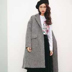 Porta - Stripe Knit Coat