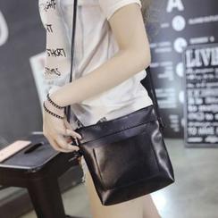 Suis MOI - Faux Leather Crossbody Bag