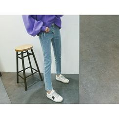 ATTYSTORY - Washed Baggy-Fit Jeans