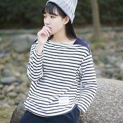 tete - 長袖條紋T恤