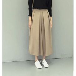 IndiGirl - Wide-Leg Cropped Pants