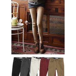 GOROKE - Brushed-Fleece Lined Skinny Pants