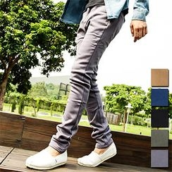 AOYAMA - Plain Slim-Cut Pants
