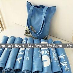 Ms Bean - Print Denim Shopper Bag