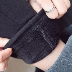 PIPPIN - Brushed-Fleece Seam-Front Leggings
