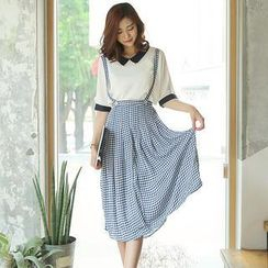 Envy Look - Check Jumper Skirt