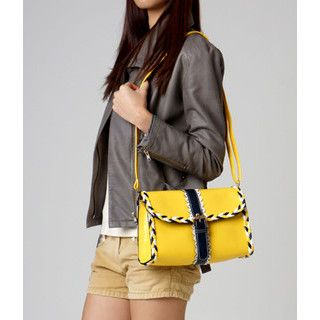 59 Seconds - Braided Buckled Crossbody Bag