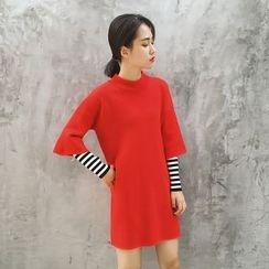 GAGAI - Mock Two-Piece Dress