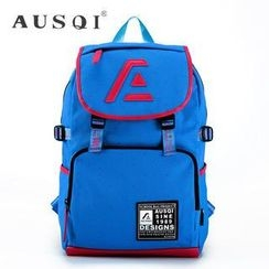 Ausqi - Color-Block Canvas Backpack
