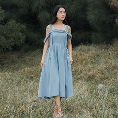 Sens Collection - Strappy A-Line Midi Dress