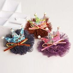 Chapa - Sequined Mesh Hair Clip
